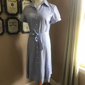 Brooks Brothers 346 Tie Waist Fitted Shirt Dress 6